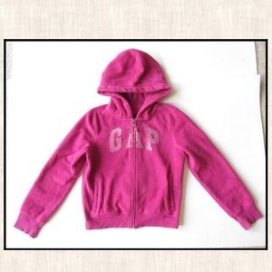 Gap Kids XXL 14-16 Pink Fleece Logo Jacket Hoodie